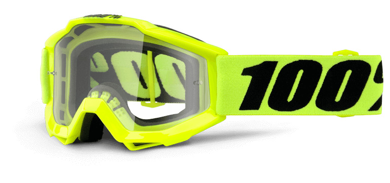 100% Accuri JR Fluo Yellow Clear Lens мотоочки детские
