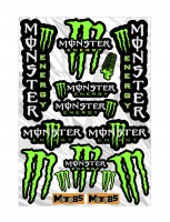 Набор наклеек А4 Monster Energy