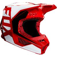 Fox Racing V1 Prix 2020 Flame Red шлем кроссовый