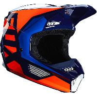 Fox Racing V1  Prix Lovl SE Orange/Blue шлем кроссовый