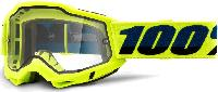 100% Accuri 2 Enduro Fluo Yellow/Clear Dual Lens мотоочки