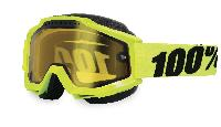 100% Accuri Snowmobile Fluo Yellow Vented Dual Lens w Pins мотоочки