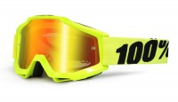 100% Accuri JR Fluo Yellow Mirror Red Lens мотоочки детские