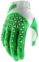 100% Airmatic Glove Silver/Fluo Lime мотоперчатки