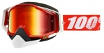 100% Racecraft Snow Fire Red/Mirror Red Vented Dual Lens w/Pins очки снегоходные, красный