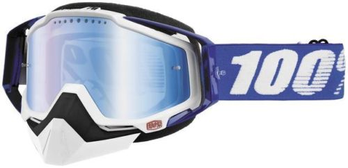 100% Racecraft Snow Cobalt Blue/Mirror Blue Vented Dual Lens w/Pins очки снегоходные, синий