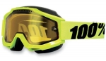 100% Accuri Snow Fluo/Yellow Vented Dual Lens w/Pins очки снегоходные, желтый