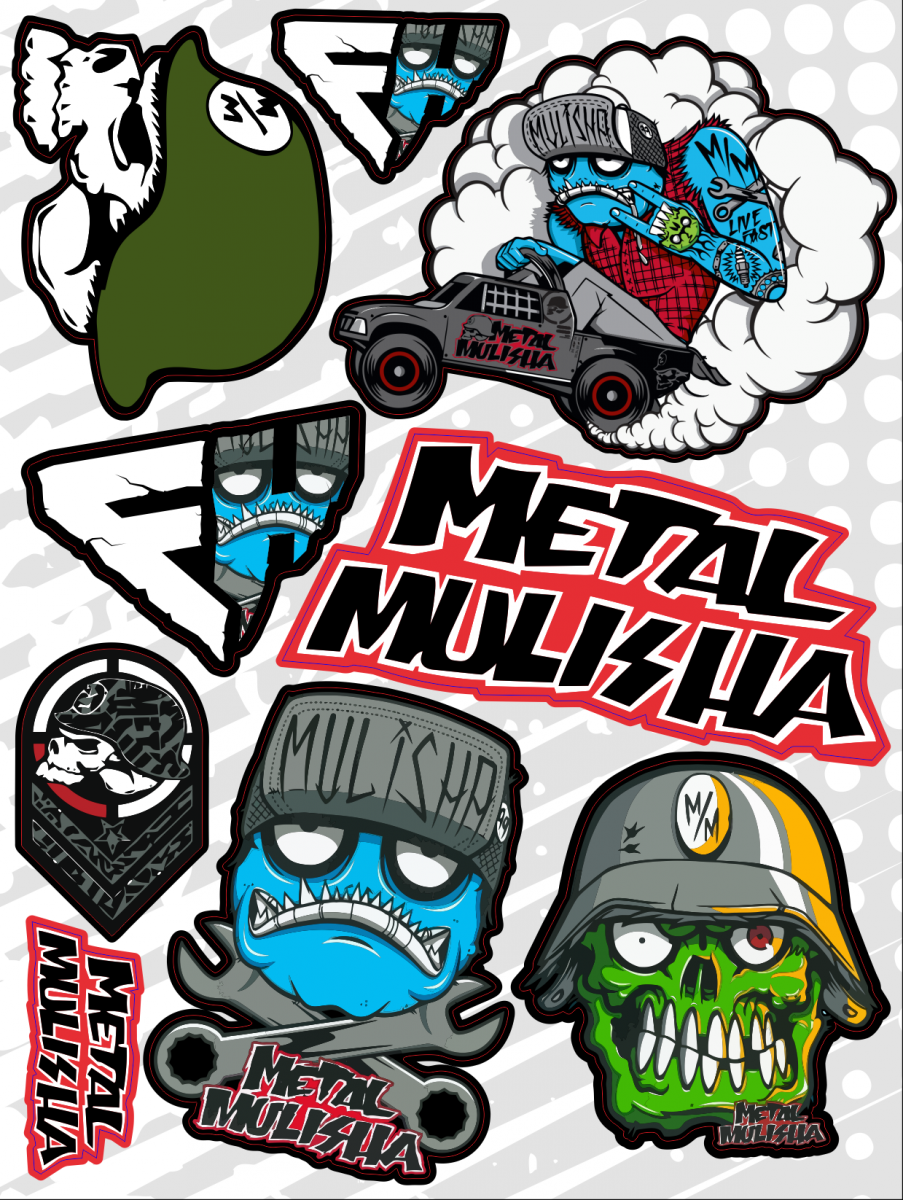 Набор наклеек А4 Metal Mulisha
