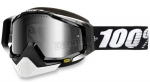 100% Racecraft Snow Abyss Black/Mirror Silver Vented Dual Lens w/Pins очки снегоходные, черный