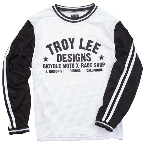 Джерси Troy Lee Designs Super Retro (черно-белый)